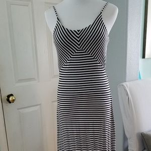 Charming Charlie Black and White Geo Stripe Maxi